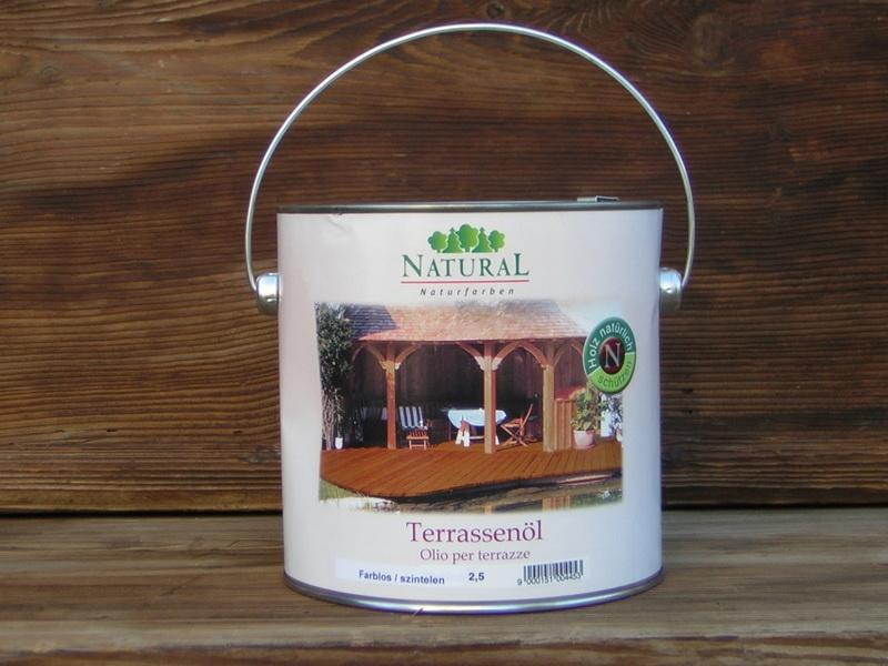 természetes olaj fa teraszra
