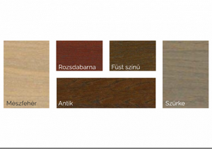 Természetes színes olaj fára színminta