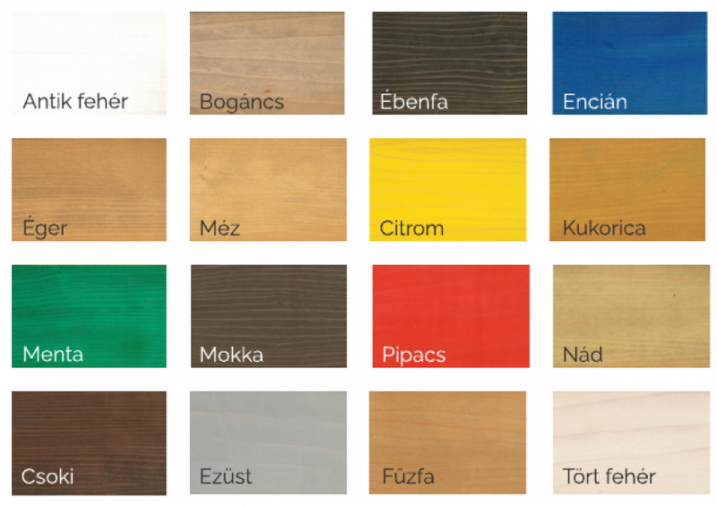 Természetes fafesték színek