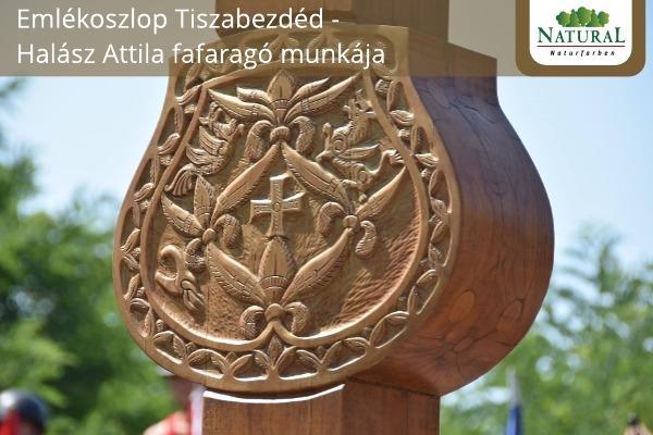 Emlékoszlop Tiszabezdéd